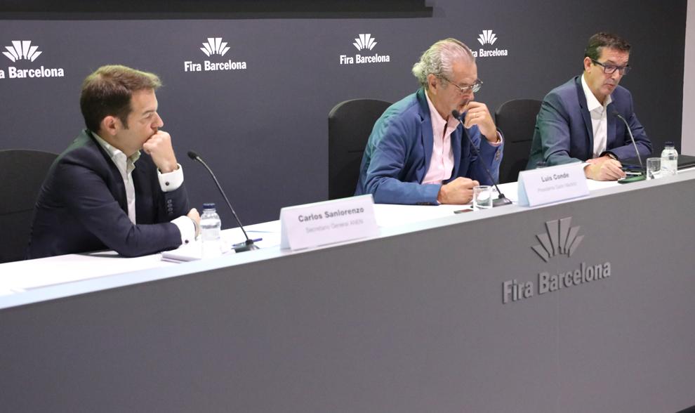Carlos Sanlorenzo, Luis Conde y Jordi Freixas, durante la...