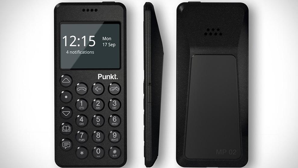 """El móvil """"no inteligente"""" de la empresa suiza Punkt: el..."""