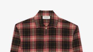 Camisa de franela de cuadros de Saint Laurent. Precio: 750 euros.