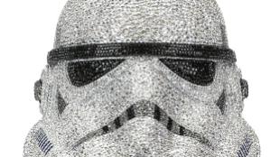 1.Casco de Stormtrooper de Star Wars hecho por Swarovski. Precio:...