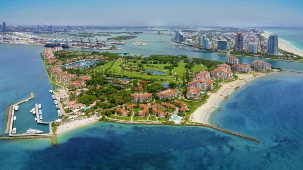 Fisher Island es una isla situada al sur de Miami , construida por...
