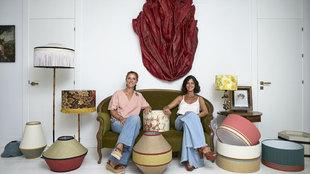 Paloma Eguilior y Matilde Lladó, ambas de 46 años, rodeadas de sus...