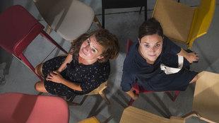 Las hermanas Arratibel (izquierda Nora, derecha, Nadia), en el...