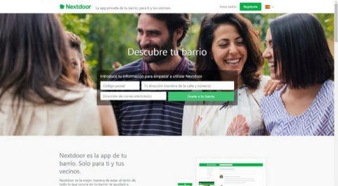 Página web en español de Nextdoor.