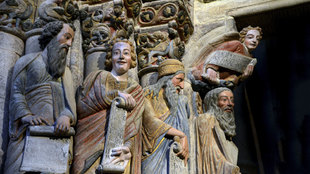 Grupo de los profetas Jeremías, Daniel, Isaías y Moisés (de izqda....