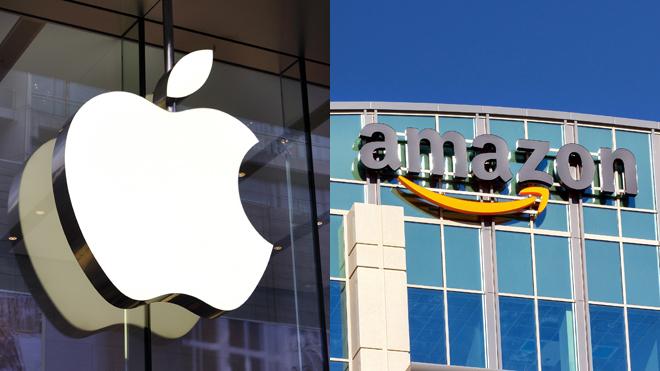 Logos de Apple y Amazon.