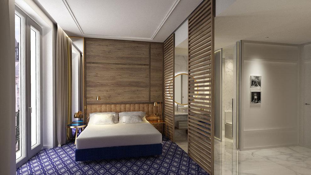 Así serán las habitaciones del Pestana CR7 de Gran Vía de Madrid.