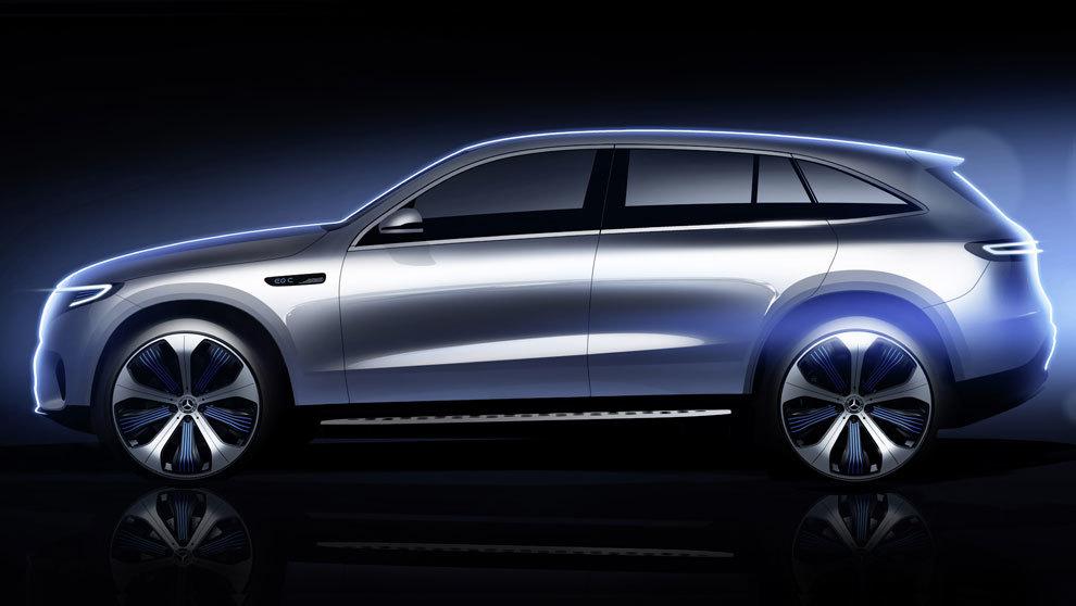 El Mercedes EQC tiene dos motores eléctricos asíncronos. El precio...