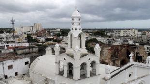 Vista aérea del Hospital de San Nicolás de Bari.