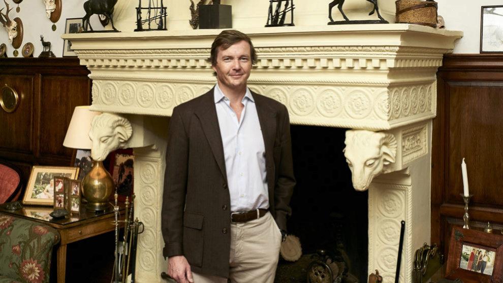 Pedro de Borbón- Dos Sicilias,50 años, en la sala de estar de La...
