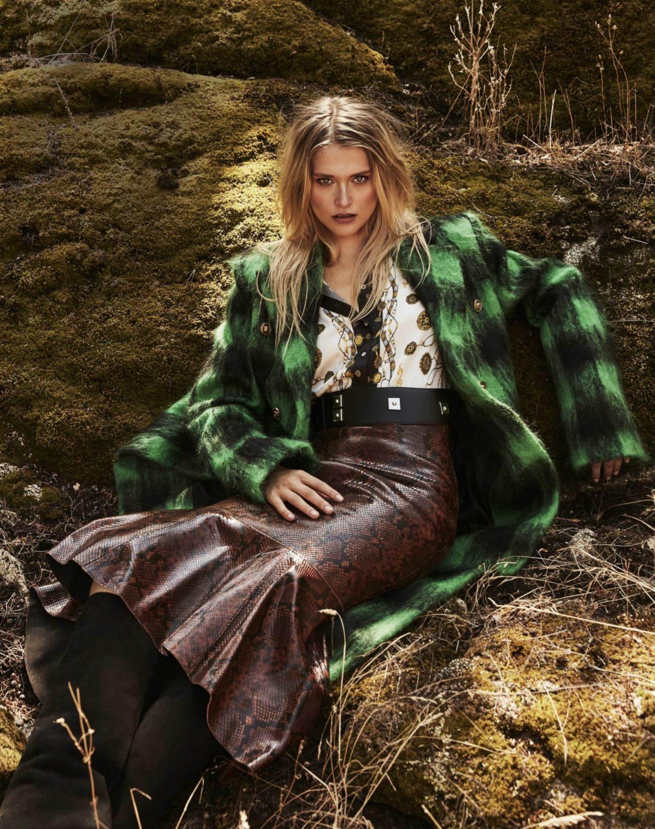 Blusa con estampado, de Zara, 39,95 euros. Falda print, de Uterqüe,...