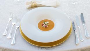 Uno de los platos de alta cocina diseñados para la cena navideña del...