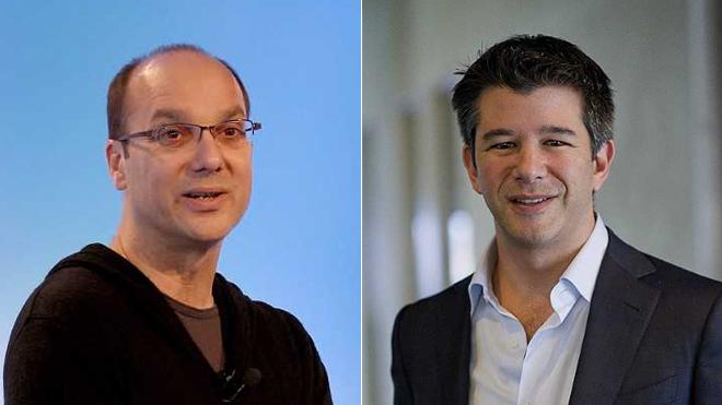 Andy Rubin, exvicepresidente de Google y creador de Android, y Travis...