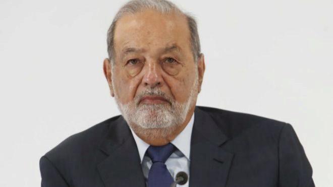 Carlos Slim, mayor accionista de FCC, durante el Investor Day de la...