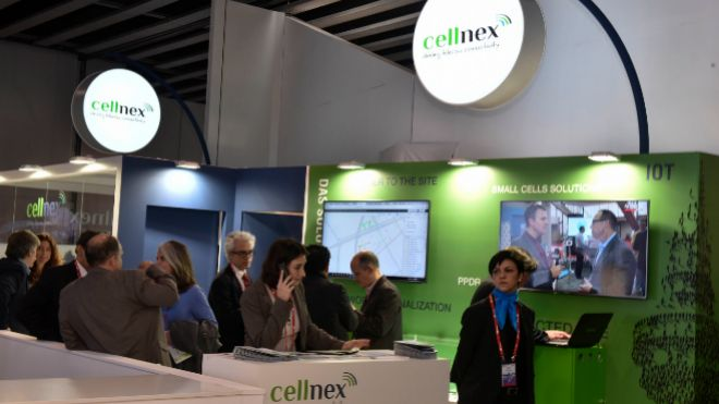 Stand de Cellnex en el Mobile World Congress de Barcelona.