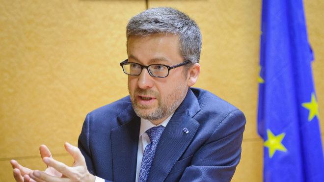 El comisario europeo de Investigación, Ciencia e Innovación de la...