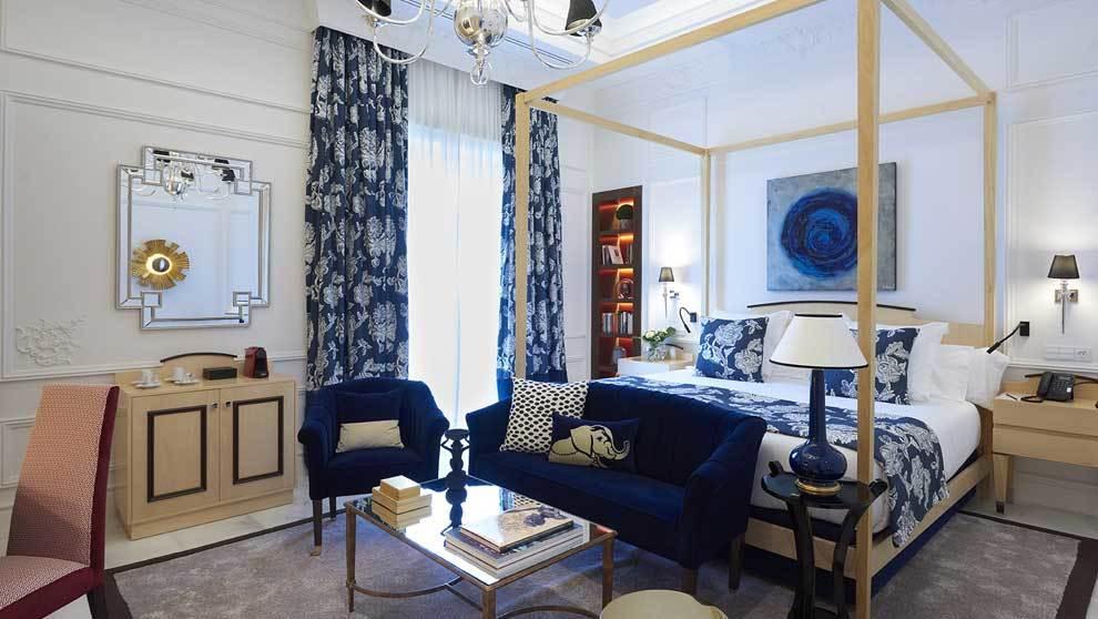 Hotel Casa palacio María Luisa, habitación principal con cama...
