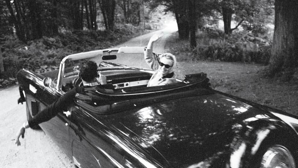 Arthur Miller y Marilyn Monroe en Connecticut en 1956, durante un...