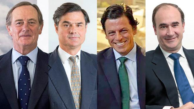 De izquierda a derecha: Claudio Aguirre, socio fundador de Altamar;...