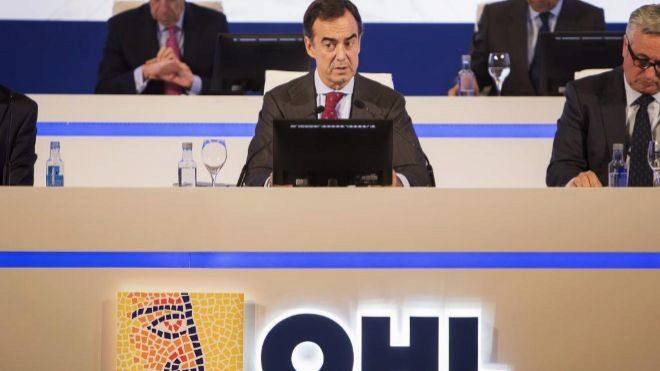 El presidente de OHL, Juan Villar-Mir de Fuentes, en la junta general...