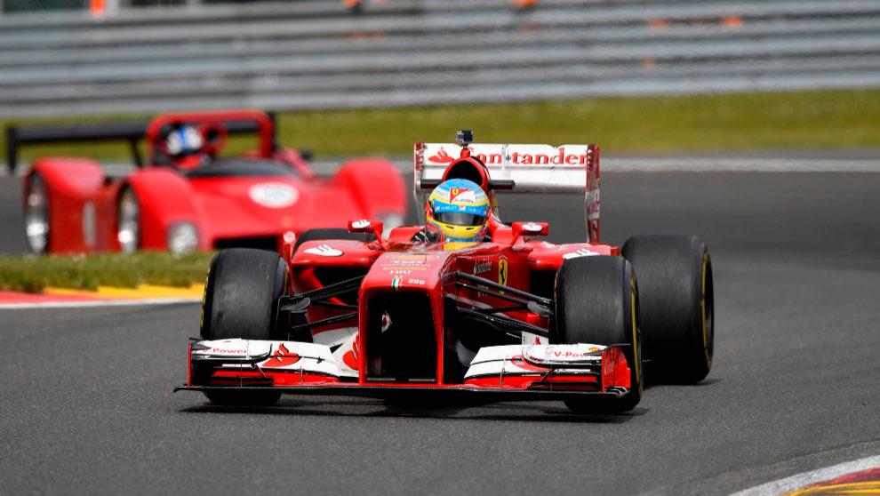 El F138 de Fernando Alonso durante un Gran Premio.