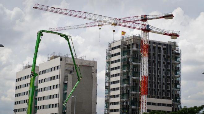 La actividad de la construcción en España repuntó un 6,1% en septiembre