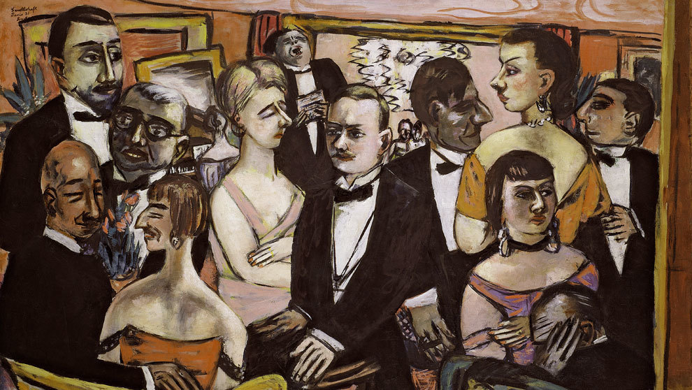 """Pintura """"La sociedad de París"""" que se encuentra en el museo..."""