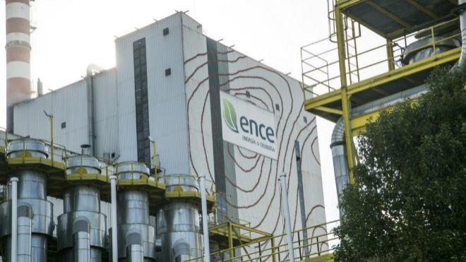 Centro de operaciones de Ence en Pontevedra.