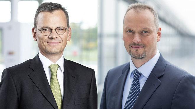 inik Asam, nuevo director financiero de Airbus (izquierda) y Michael...