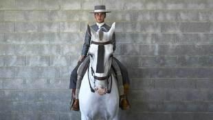 José Antonio Fraile, 16 años, dos veces campeón de España, montado...
