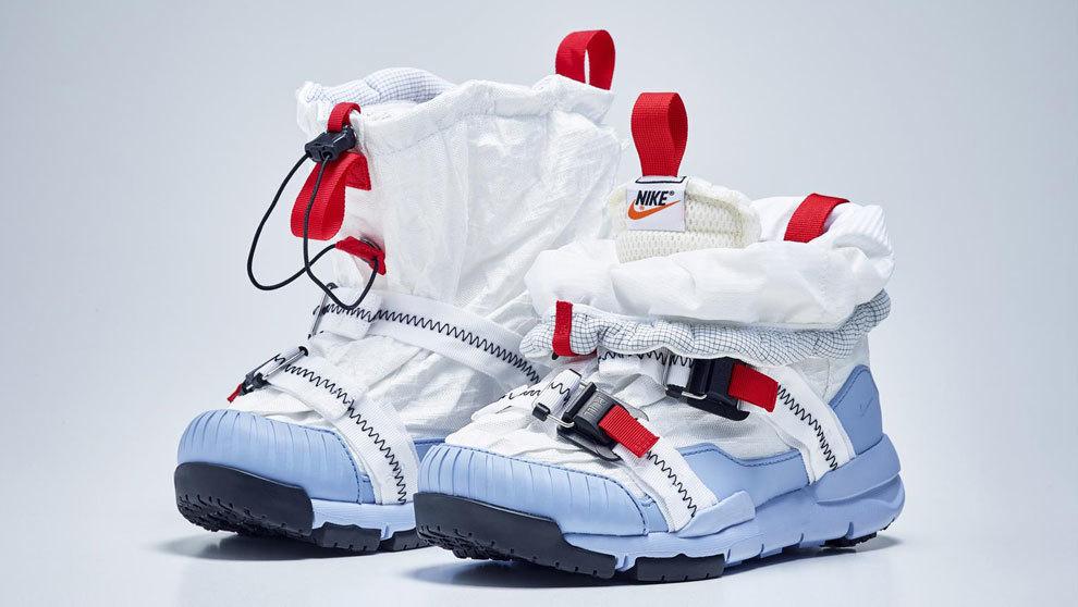 cheap for discount 23cc4 59d7d Las zapatillas de inspiración espacial Mars Yard Overshoe creadas por la  firma deportiva en colaboración con el artista Tom Sachs.