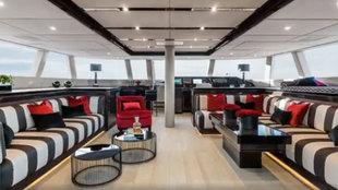 El interior de la embarcación Sunreef 74 'Chrissy', elegida...
