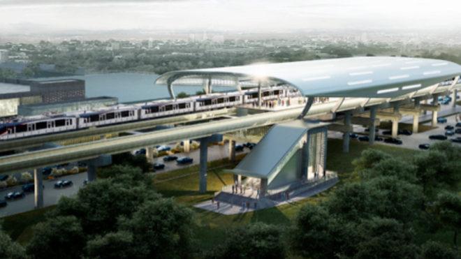 En la imagen, la línea 2 del metro de Panamá.