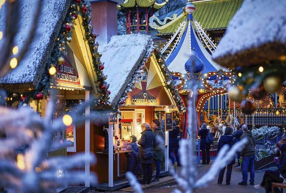 Vista del mercadilllo navideño de los Jardines de Tivoli, en...