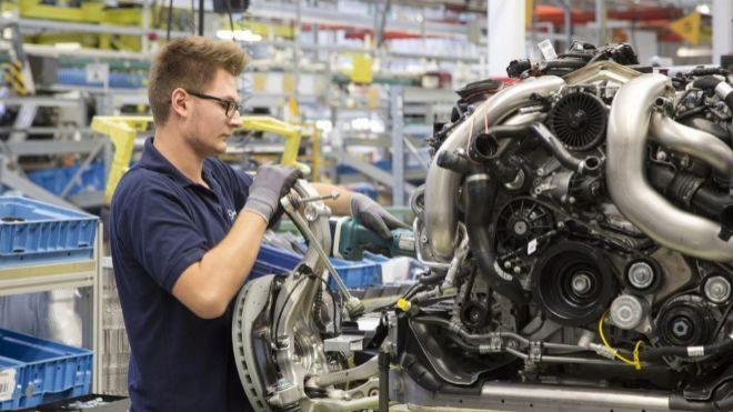Fábrica de Mercedes-Benz en Stuttgart.