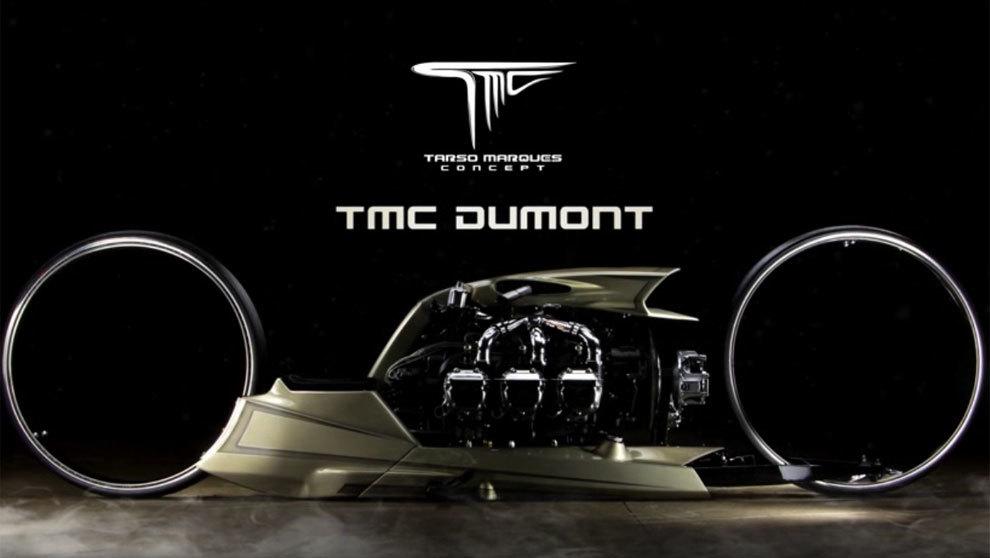 No parece muy operativa pero la moto modelo TMC Dumont es espectacular...