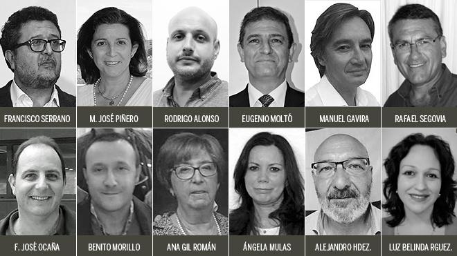 En la imagen, los doce diputados que tendrá Vox en el Parlamento...