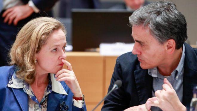 Los ministros de Economía y Finanzas de la zona euro, reunidos en...