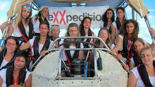 Una tripulación de eXXpedition, durante una travesía anterior.