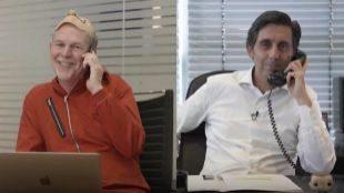 Reed Hastings, CEO de Netflix, y José María Álvarez Pallete,...