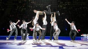 """Un momento del espectáculo """"Revolution On Ice"""". Javier..."""