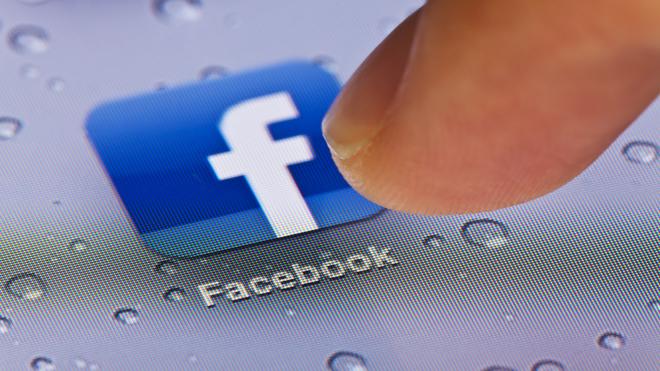 Logo de la aplicación de Facebook.