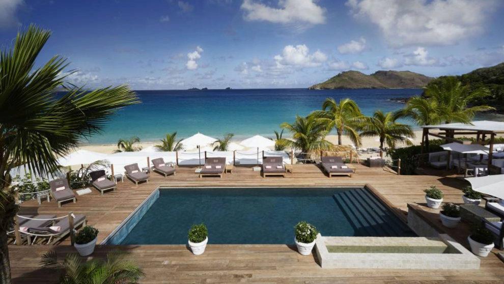 El hotel Cheval Blanc Isle de France de Sant Barths, en la Isla de San...