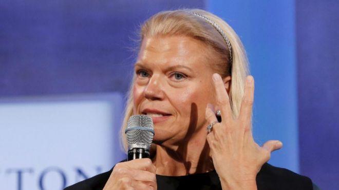 La presidenta y directora ejecutiva de IBM, Ginni Rometty.