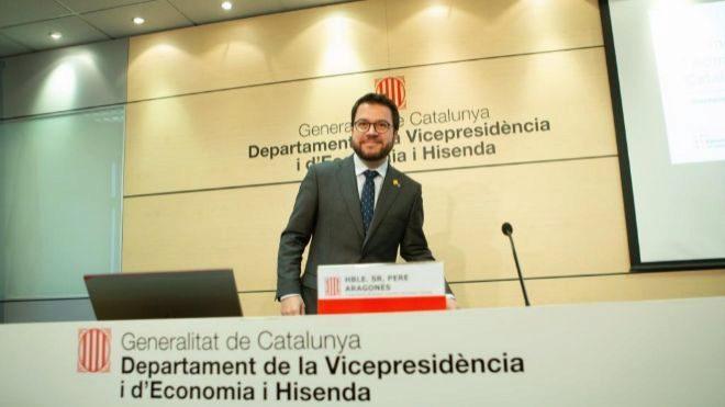 El vicepresidente y conseller de Economía de la Generalitat, Pere...