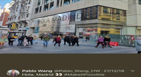 Tuit del director de Consumo de Huawei, Plablo Wang, con la...