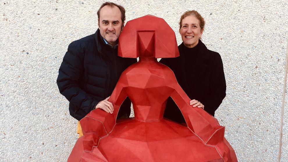 El artista Felipao y Carolina Sánchez de Movellán de Sol&luna:...