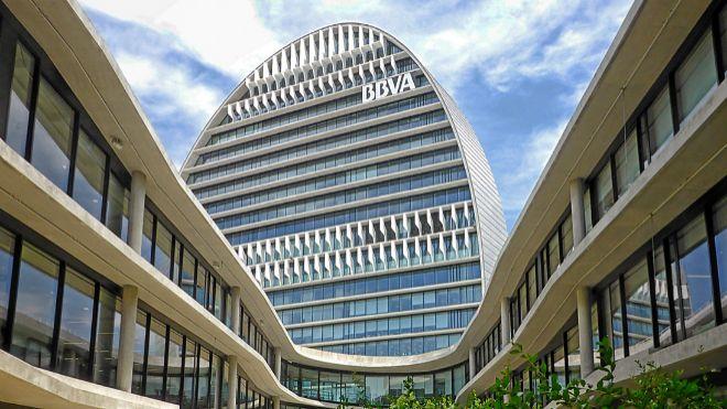 Imagen de la sede de BBVA en Madrid.