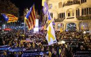 Concentración en Barcelona convocada por la ANC en apoyo a los presos...