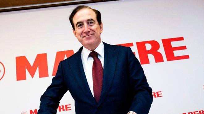Antonio Huertas, presidente de Mapfre, en la presentación de los...